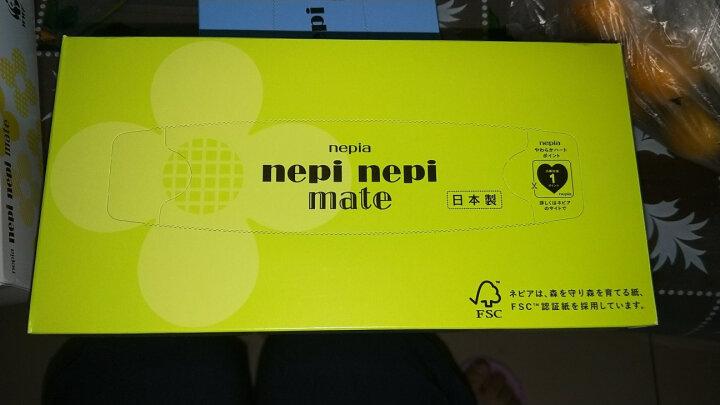 妮飘(nepia)nepi nepi mate 盒装面巾纸倍柔150抽*5盒(日本原装进口) 晒单图