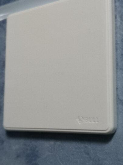 公牛(BULL) 开关插座 G18系列 开关插座盖板装饰面板白板空白面板 86型面板G18B101 纹理白 暗装 晒单图
