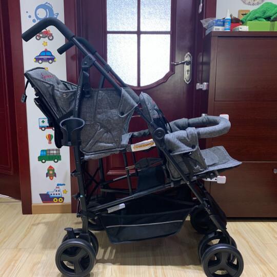 kinderwagon 双胞胎二胎婴儿推车双人大小孩宝宝手推车轻便折叠伞车 新款加宽红色(大小孩) 晒单图