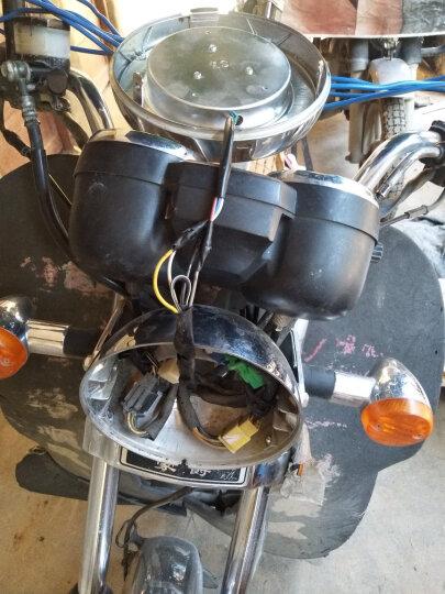 魅星太子款改装前大灯总成 摩托车led大灯远近光超亮三轮车电动车高亮度LED灯泡内置 6灯小款 晒单图