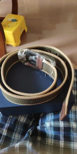 极为(JEVI)帆布腰带男士帆布皮带男休闲裤带韩版学生针扣男士加长皮带JWYD-1037 晒单图