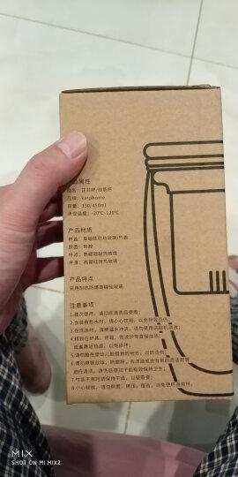 KARPHOME卡普家居 耐热玻璃杯创意双层隔热杯子套装带盖茶杯办公室水杯 350ML胶圈竹盖((送勺子和杯垫) 晒单图
