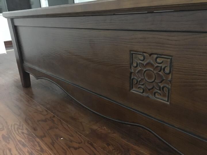 林中漫步床 全实木床 1.8米双人床小美式床 白蜡木床 1.5米储物高箱原木床 简易框架床 1.8*2.0(金釉色) 晒单图