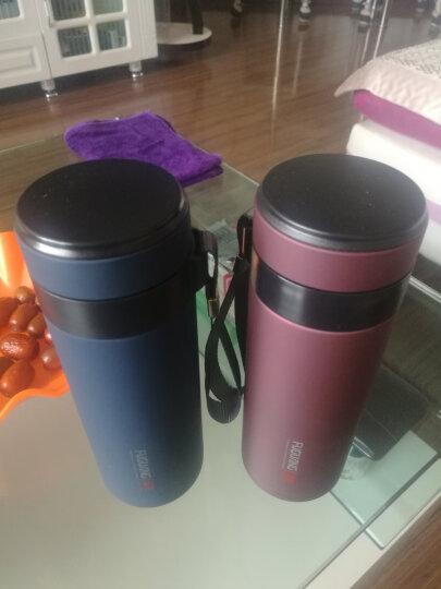 富光 生态泡茶杯FGL-3374紫砂陶瓷内胆300ml不锈钢外壳水杯 墨蓝紫砂内胆 晒单图