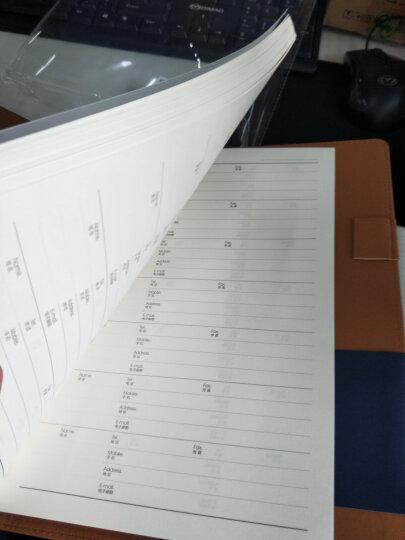 得力(deli)25K100张高档领导款活页皮面本 商务办公记事本笔记本子 黑33052 晒单图