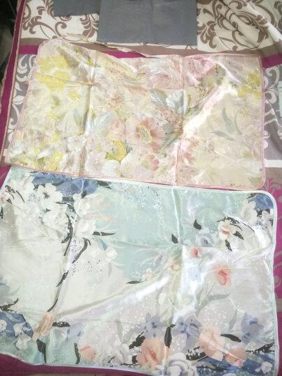太湖雪 床品家纺 真丝枕巾 100%桑蚕丝绸单面枕巾 单个装 红牡丹 48*74cm 晒单图