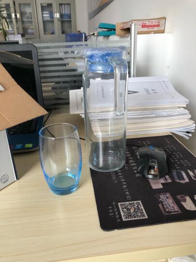 乐美雅(Luminarc)无铅玻璃凝彩杯壶套装 果汁冷水壶 鹿特丹壶凝彩水具(冰蓝) 5件套 晒单图