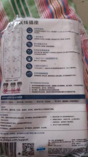 飞利浦(PHILIPS)新国标安全插座 插线板/插排/排插/拖线板/接线板3米 儿童保护门 8孔位 晒单图