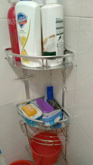 新中式亚【免打孔】卫生间置物架 厕所洗手间浴室置物架 洗漱台收纳三角架 壁挂挂件新中式 三层三角篮-亮光经典款 晒单图