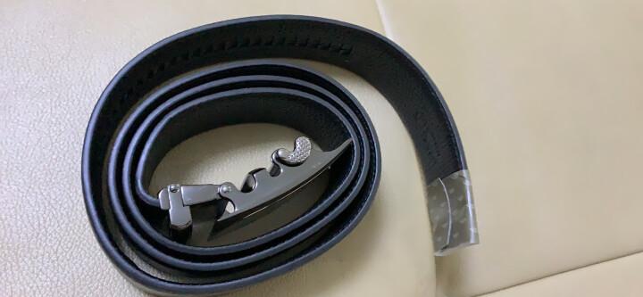 七匹狼男士皮带升级加宽版自动扣中青年头层牛皮裤腰带7A513131000黑色(120-125CM) 晒单图