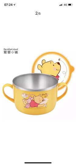 【韩国进口】迪士尼(Disney)维尼儿童不锈钢碗 婴儿碗 儿童汤碗饭碗辅食碗宝宝碗大面碗(650ml)05 晒单图