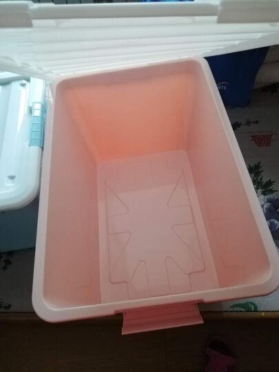访客 多层可拆卸透明桌面抽屉柜塑料收纳盒小号整理柜 化妆品收纳盒收纳箱 大号3层(带格子) 晒单图