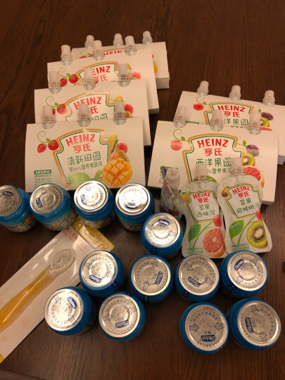 亨氏 (Heinz)  婴幼儿辅食 宝宝零食 混合水果泥 婴儿果泥113g(辅食添加初期-36个月适用) 晒单图
