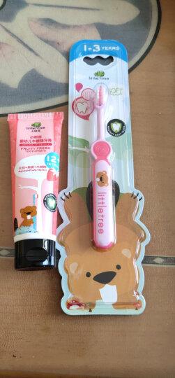 小树苗 儿童牙膏牙刷套装D 婴幼儿草莓牙膏25g+宝宝牙刷粉色 无色素无氟可吞咽 适合1-3岁 特护系列 晒单图