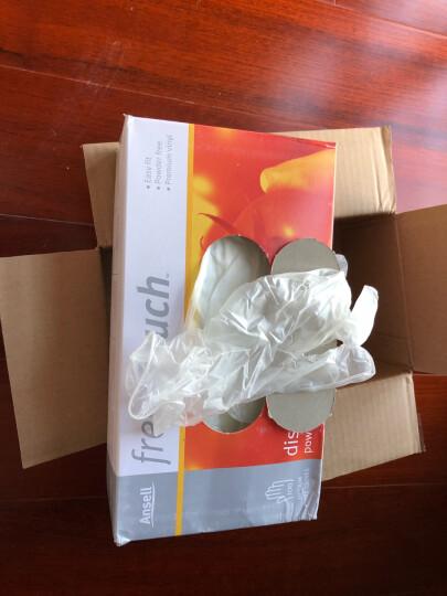 ANSELL 【安思尔旗舰店】医用橡胶手套一次性手术检查家务洗碗清洁乳胶皮无粉加厚手套100只/盒 457奶白色XS 晒单图