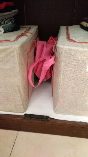 【4件8.5折】喜家家 牛津布收纳箱大号钢架衣物衣服棉被整理箱收纳盒储物箱 牛仔蓝-斜窗式66L 晒单图