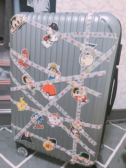 班哲尼 行李箱贴纸旅行箱拉杆箱笔记本电脑潮牌吉他滑板死飞个性网红贴纸 图标类 25片装 晒单图