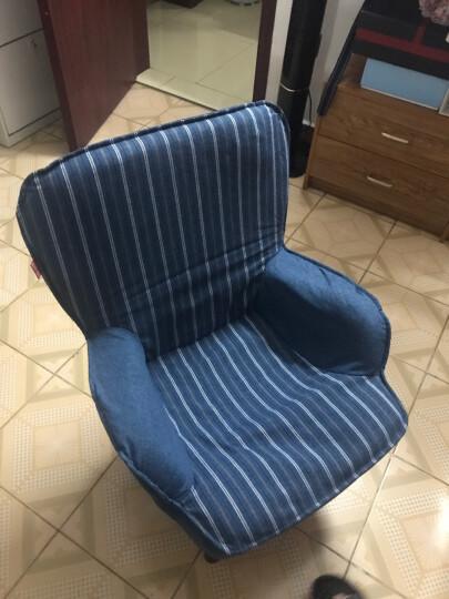 懒人日记 旋转儿童沙发椅 单人布艺可拆洗幼儿园儿童房阅读椅休闲迷你宝宝小沙发 蓝色001HPLK-BL 晒单图
