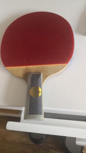 红双喜DHS乒乓球拍 6星横拍双面反胶竞技攻击型兵拍E-E602(附拍套 单块装) 晒单图
