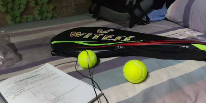 WITESS 网球拍碳纤维男女初学者套装(已穿线) 经典黑单只网拍w-5092 晒单图