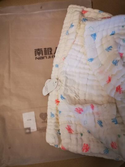 南极人(Nanjiren) 婴儿浴巾纯棉宝宝纱布浴巾儿童毛巾被 蓝色雨伞(6层泡泡纱) 105*105cm 晒单图