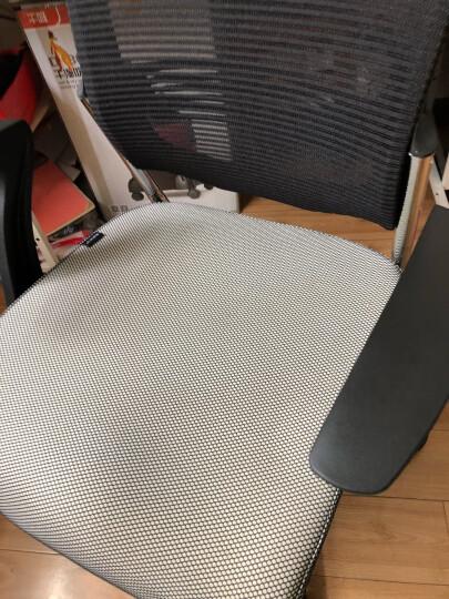 虹桥 电脑椅家用 可躺老板椅网布办公椅职员椅子 七字型扶手 晒单图