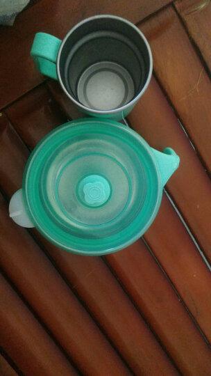 舒氏(SNUG)儿童餐具婴儿注水保温碗 宝宝防摔碗强吸力不锈钢吸盘碗 婴儿辅食碗 薄荷绿S1082 晒单图