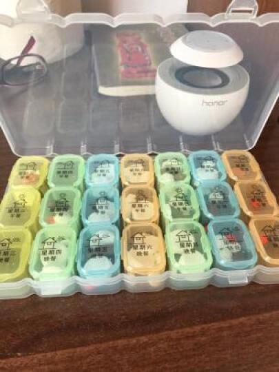 加加林 一周星期小药盒七天药盒 家庭旅行 便携透明大容量分药品收纳盒 绿色蓝色随机发 晒单图