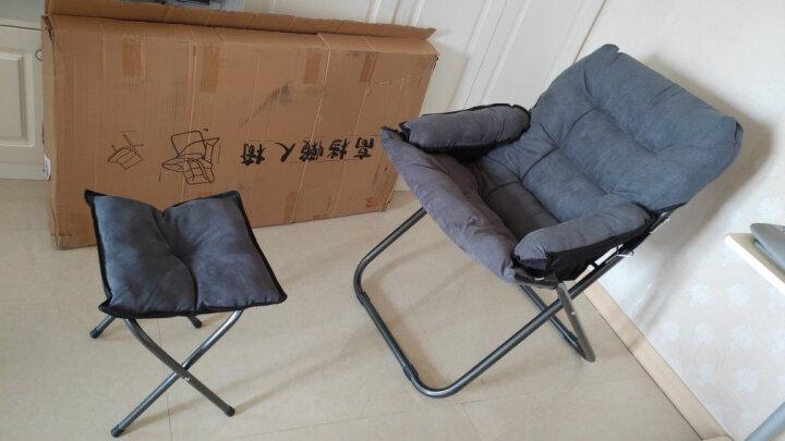 星奇堡 创意懒人沙发单人榻榻米迷你电脑椅卧室宿舍可拆洗可折叠椅子 三档可调椅子+抱枕+凉席 晒单图