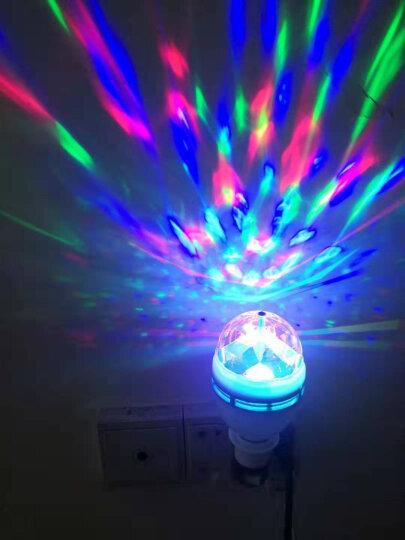 KTV灯舞台灯光水晶魔球旋转彩灯泡酒吧婚庆舞厅灯家用装饰灯旋转灯 晒单图