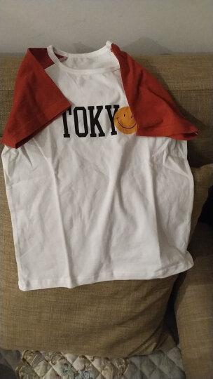俞兆林(YUZHAOLIN)童装儿童短袖t恤男童夏装女童短袖上衣中小童打底衫 小飞鱼-白色 110CM 晒单图