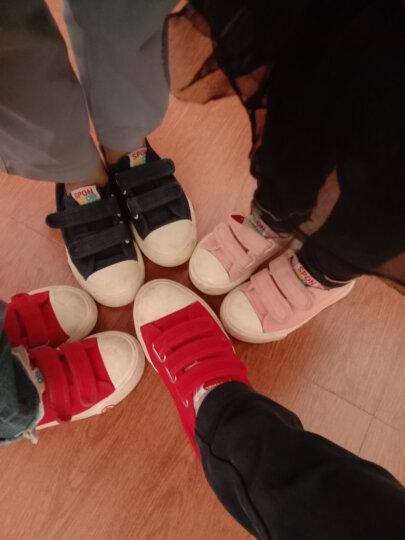 海绵宝宝童鞋儿童帆布鞋男女童春季小白鞋亲子鞋运动鞋休闲鞋学生球鞋板鞋宝宝鞋 白色 31/205码 晒单图