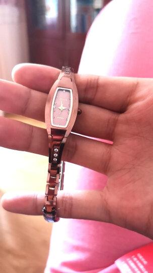 金仕盾(JIN SHI DUN)女士手表女表时尚水钻钨钢表 防水时装表玫瑰金方形女表手链表 手表 女 6530玫瑰金女表(进口机芯) 晒单图