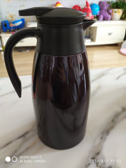 哈尔斯 保温壶杯 家用暖壶瓶热水瓶壶 健康不锈钢 暖水瓶壶 家居壶瓶2L欧式家用开水瓶咖啡壶 (升级款)本色 晒单图