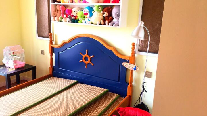 优漫佳 实木床儿童床小床公主床欧式床男孩床女孩床单人床王子床 床+床头柜*1+儿童厚床垫*1 粉色 MC9012 1.5*2米 晒单图