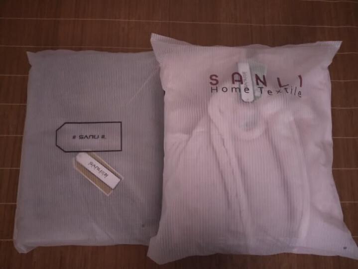 三利 A类加厚长绒棉缎边大浴巾 70×150cm 纯棉吸水 柔软舒适 带挂绳 婴儿可用 钢蓝色 晒单图