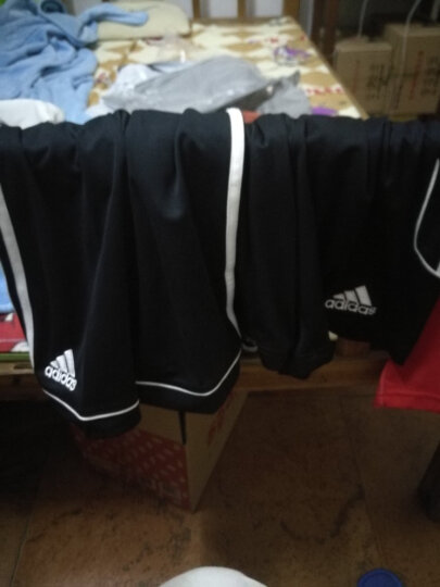 Adidas阿迪达斯短裤男跑步健身运动裤2019夏季新款舒适透气休闲五分裤足球篮球训练短裤 AC5254白/黑 (亚码) M(欧码180/88A) 晒单图