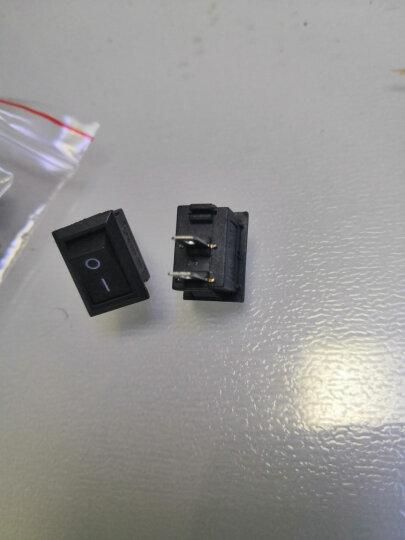 汇君 船型开关 10*15mm黑色2脚2档电源开关3A/250V 船形翘板开关 10只装 晒单图