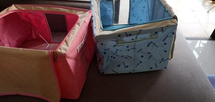 【4件8.5折】喜家家 牛津布收纳箱大号钢架衣物衣服棉被整理箱收纳盒储物箱 咖色小狗88L-2个装 晒单图