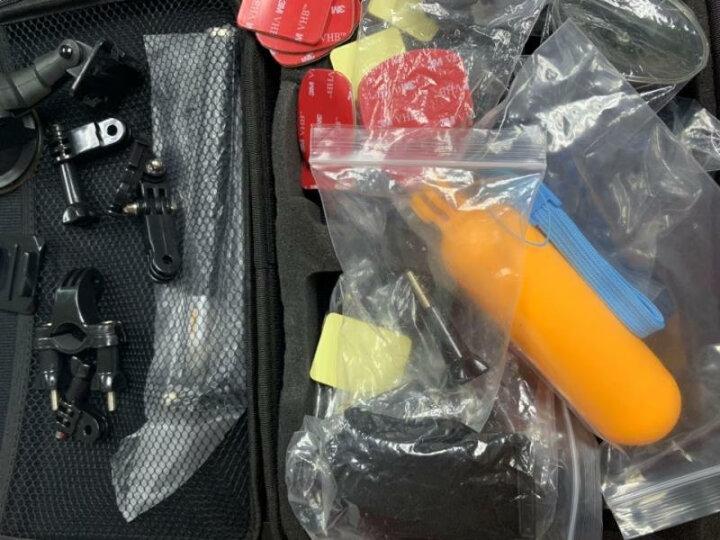 HONGDAK GoPro8/7/6运动相机配件套装适用于大疆灵眸小蚁hero5/4潜水骑行头盔支架 gopro配件38件套装 晒单图