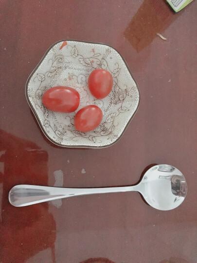阳光飞歌 不锈钢餐具 西餐主餐勺子圆形饭勺中号 0775 晒单图