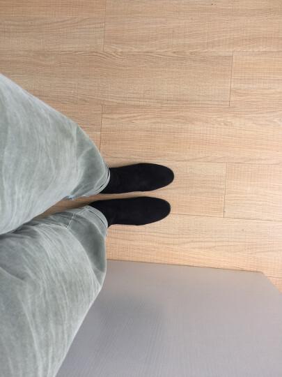 satchi沙驰女鞋新款套脚加绒百搭袜靴 烫钻修脚中跟短靴保暖靴D843515P 灰色-皮里 38 晒单图