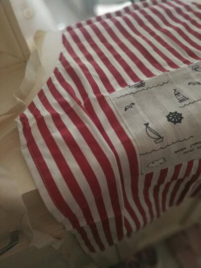 家の物语(KATEI STORY) 日本厨房亚麻绵围裙女款男款 防油防污围裙女 红色 晒单图