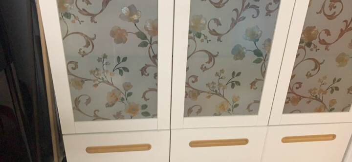 【清仓】椰果家居 餐边柜现代简约家居茶水碗柜时尚储物备餐桌子玻璃门家具 象牙白 3门 晒单图