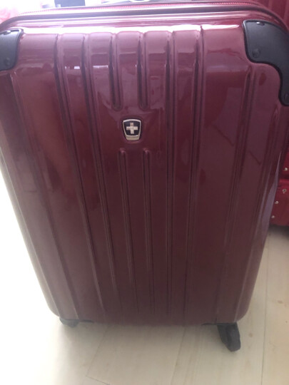 瑞动(SWISSMOBILITY)拉杆箱PC+ABS轻盈大容量旅行箱行李箱24英寸万向轮MT-5555-14T00深灰色 晒单图