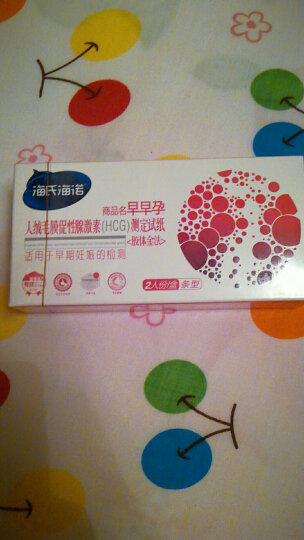 海氏海诺 验孕棒 早早孕验孕试纸卡型1支(内赠尿杯+吸管) 晒单图