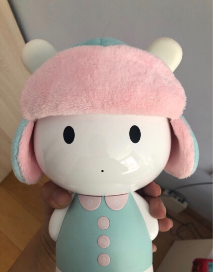 小米米兔智能故事机 儿童智能机器人 男孩女孩益智玩具 0-1-3-6岁 早教机英语点读机故事机 可爱羊二件套 晒单图