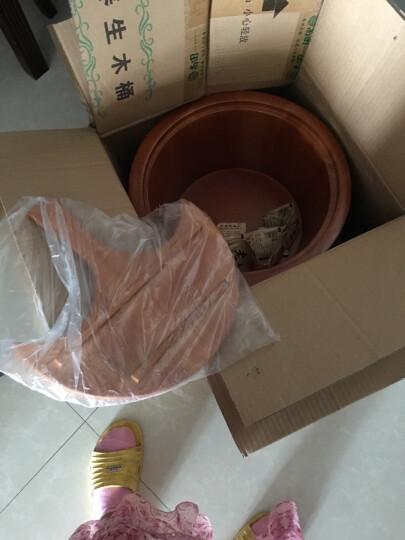 尚田 带盖泡脚木桶 实木足浴桶 木头洗脚盆 洗脚桶保健足疗桶STT-079小方边木桶 晒单图