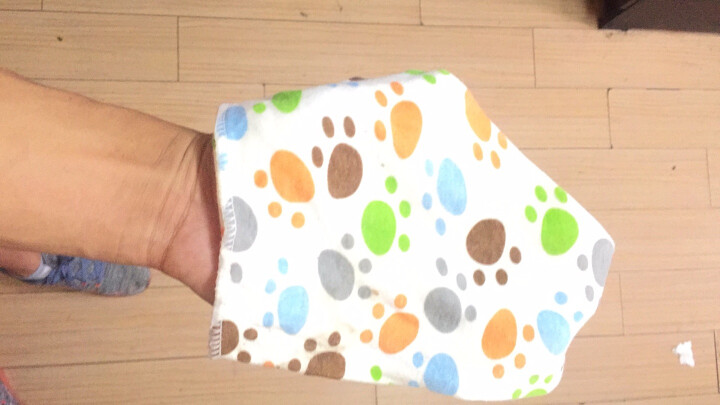 南极人(Nanjiren) 5条装婴儿口水巾纯棉宝宝三角巾按扣新生儿童围嘴口水兜非一次性围兜头巾围脖用品 晒单图