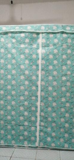 索尔诺  布衣柜简易衣柜 卧室收纳柜衣服柜居家宿舍衣橱1612 猫和鱼骨 晒单图